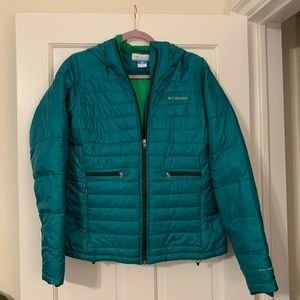 Columbia Teal Blue Winter Coat - Women's Size L